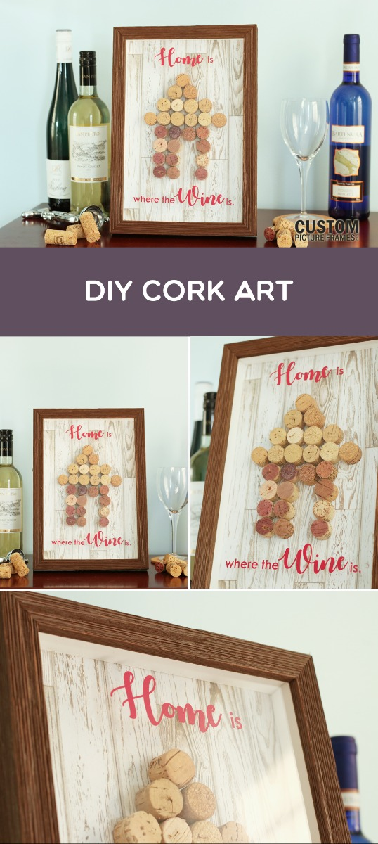DIY Cork Art Pinterest