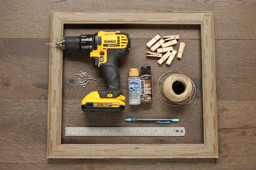 DIY Mini Gallery Frame Supplies