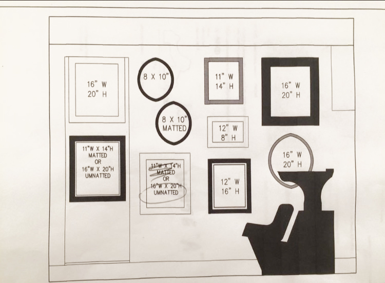 Gallery Wall Mockup in CAD