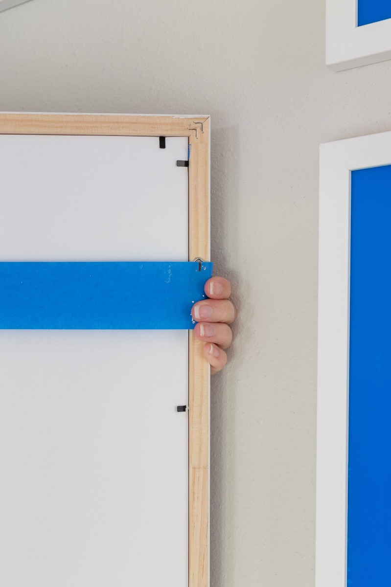 Mark Hardware With Painter's Tape