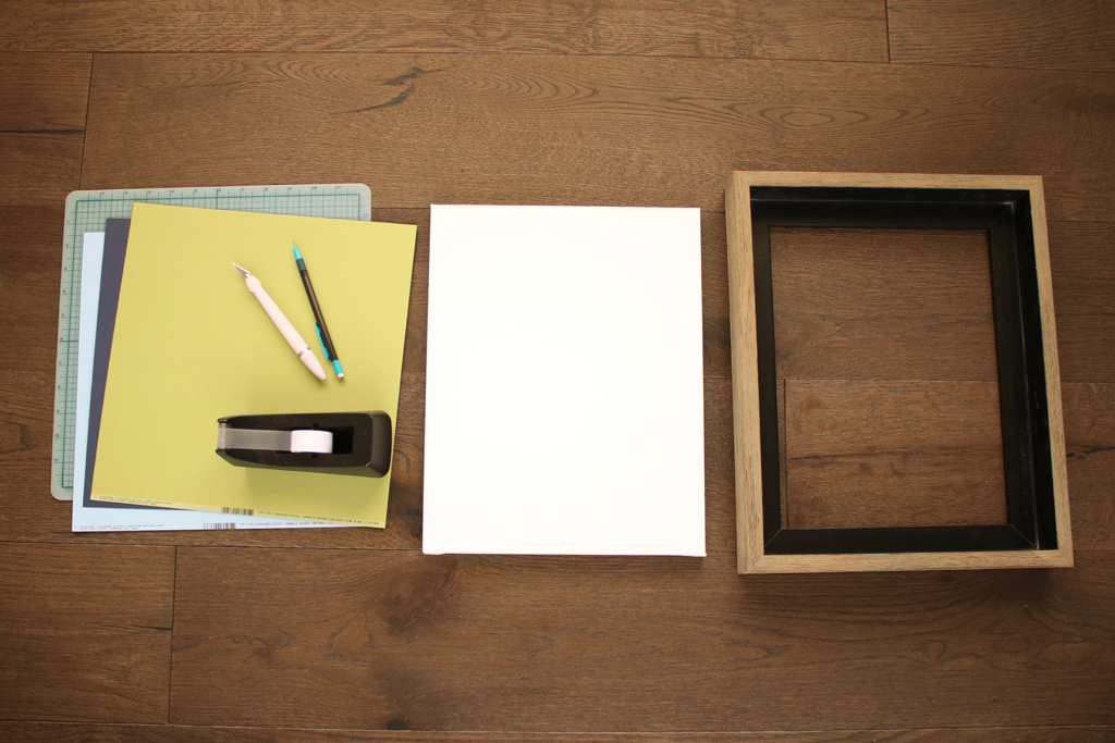 DIY Cut Canvas Supplies