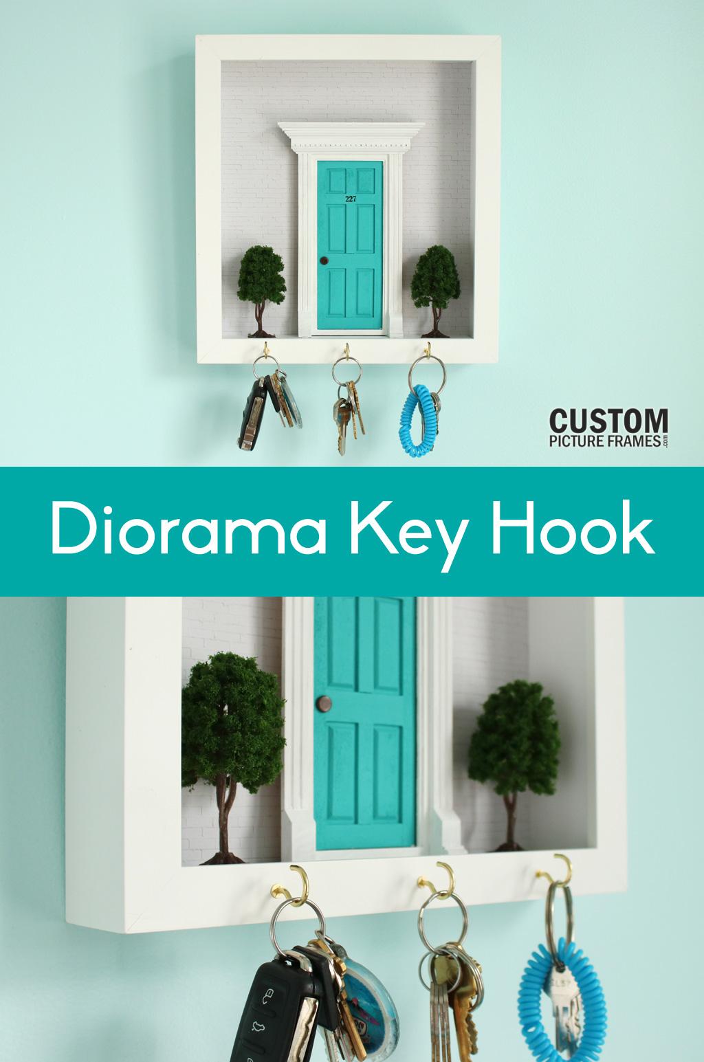 DIY Diorama Key Hook Pinterest