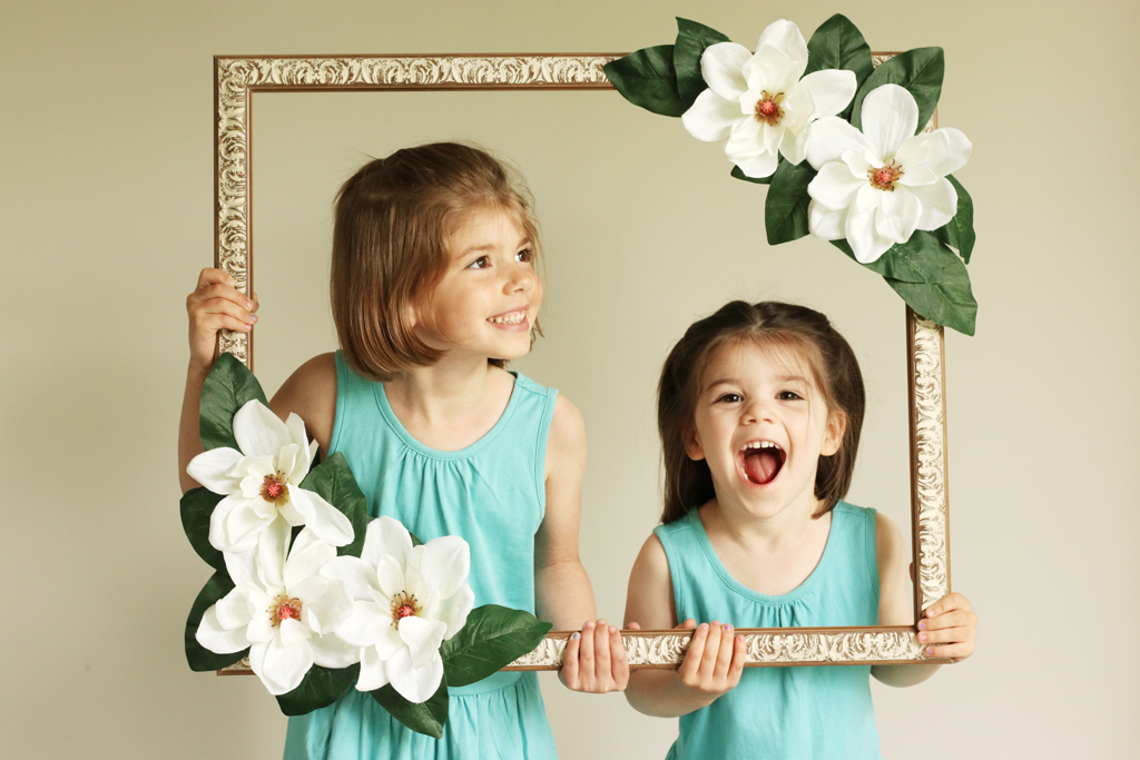 Floral Photo Booth Prop