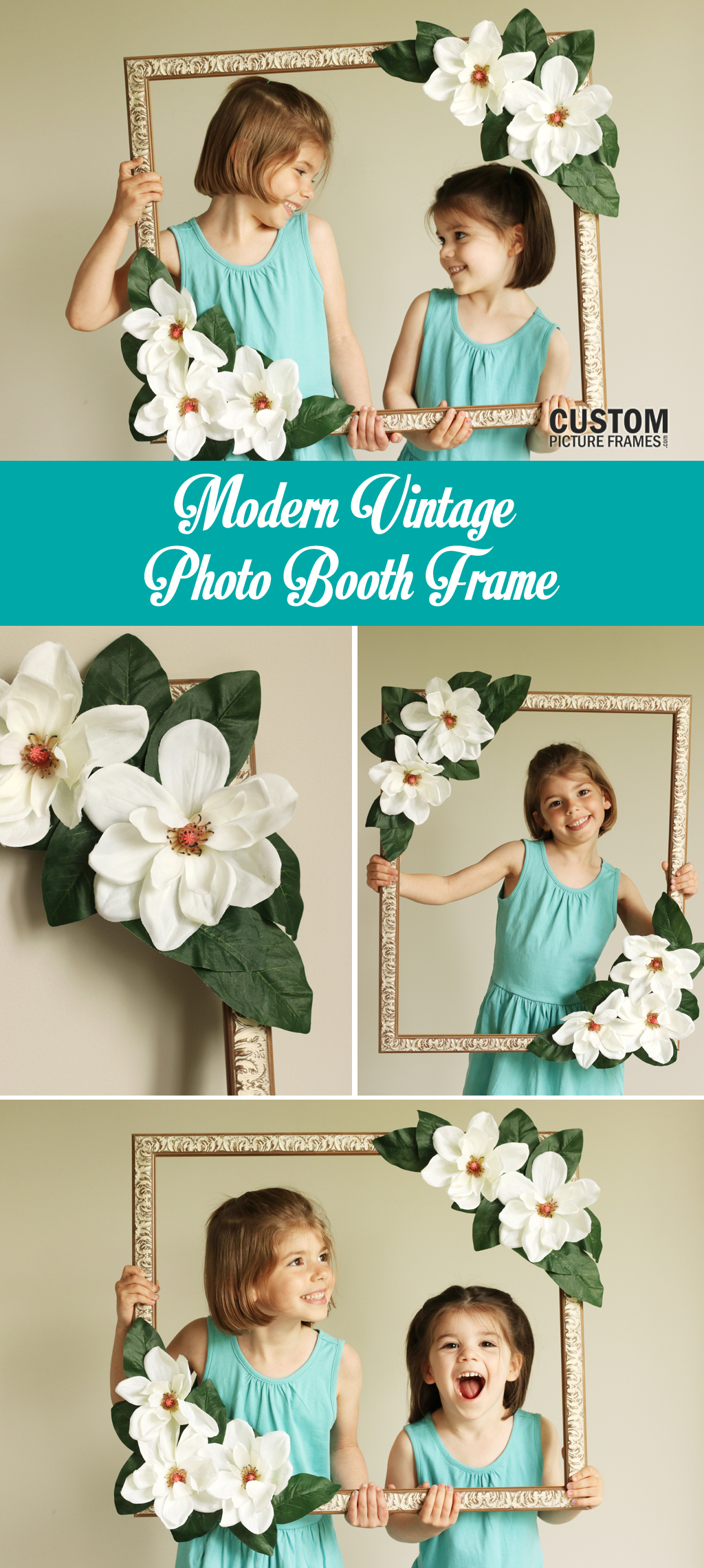 DIY Floral Photo Booth Pinterest