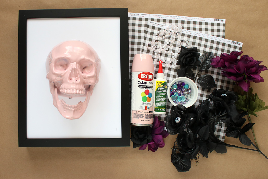 Halloween Skull Art Supplies