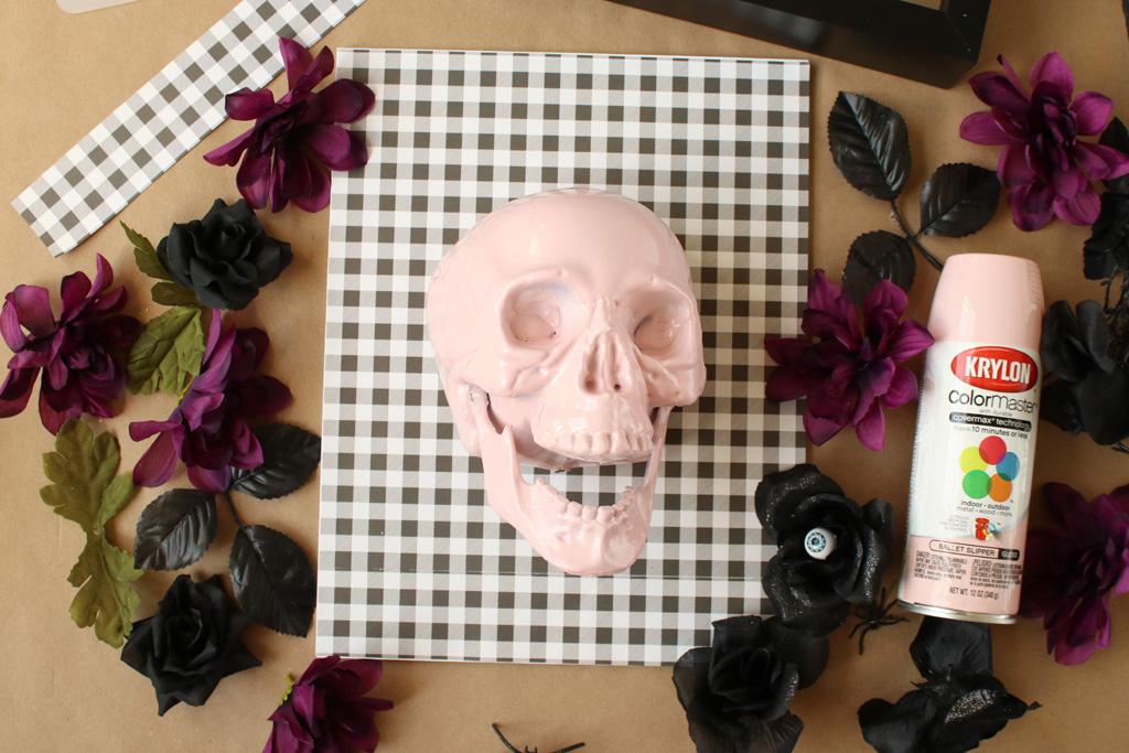 Halloween Skull Art Backer
