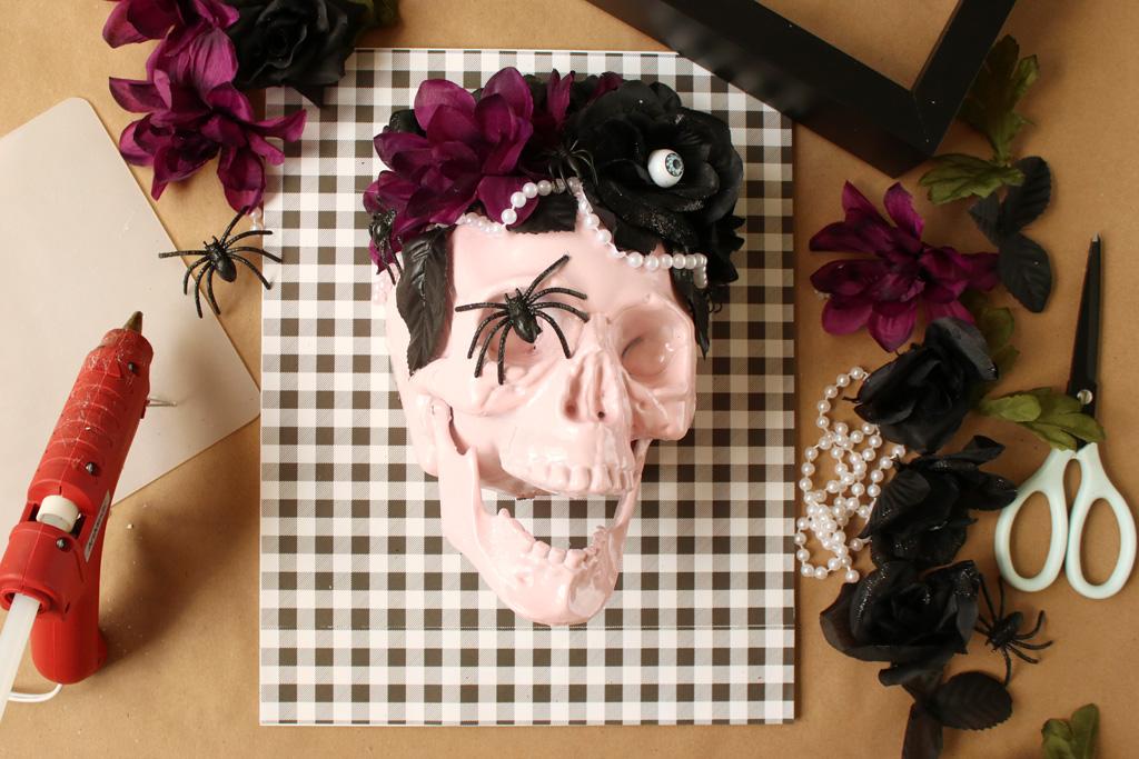 Halloween Skull Art Step