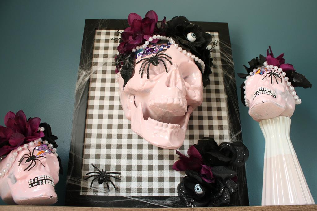 Halloween Skull Art DIY