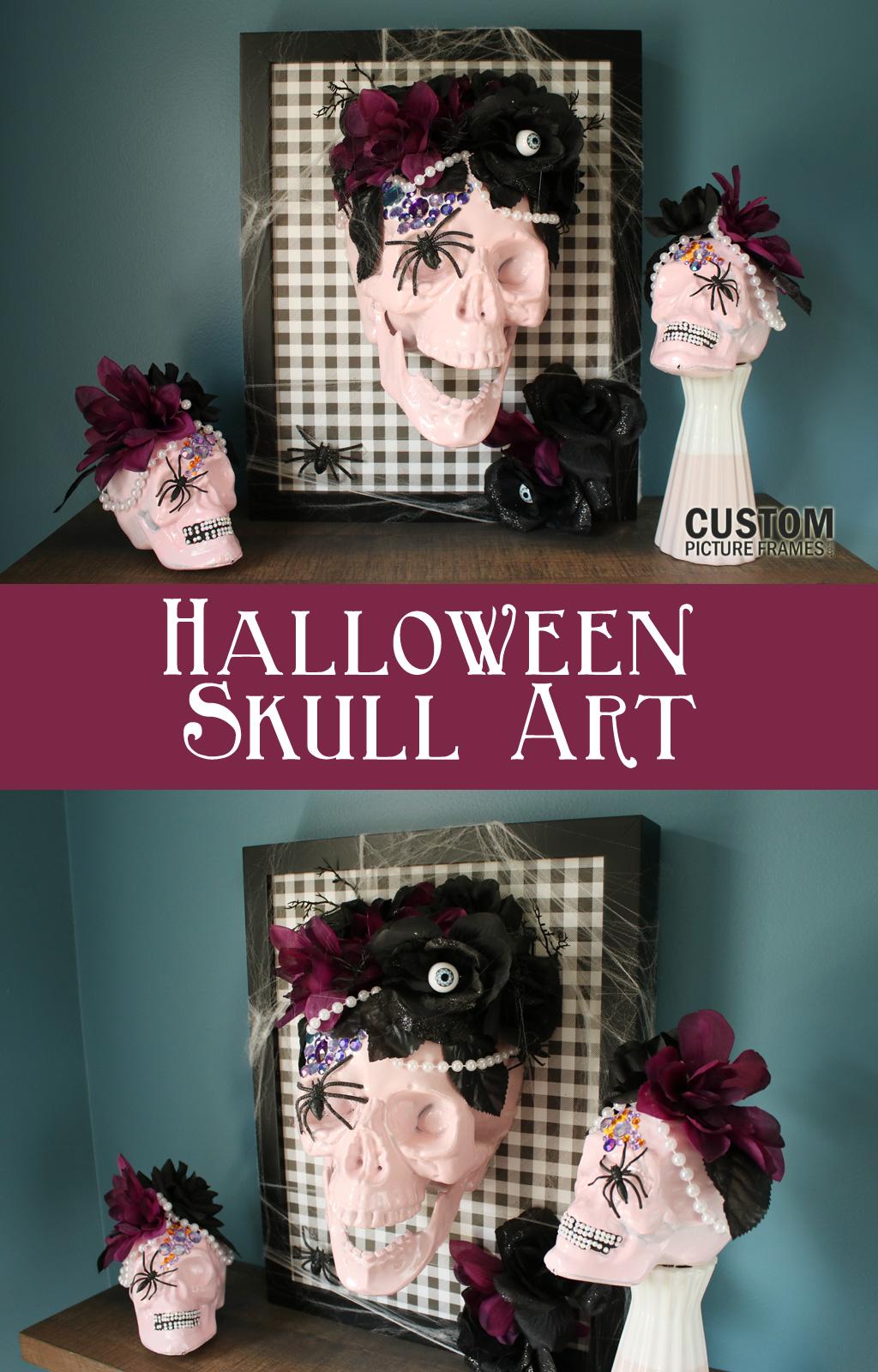 DIY Halloween Skull Art Pinterest