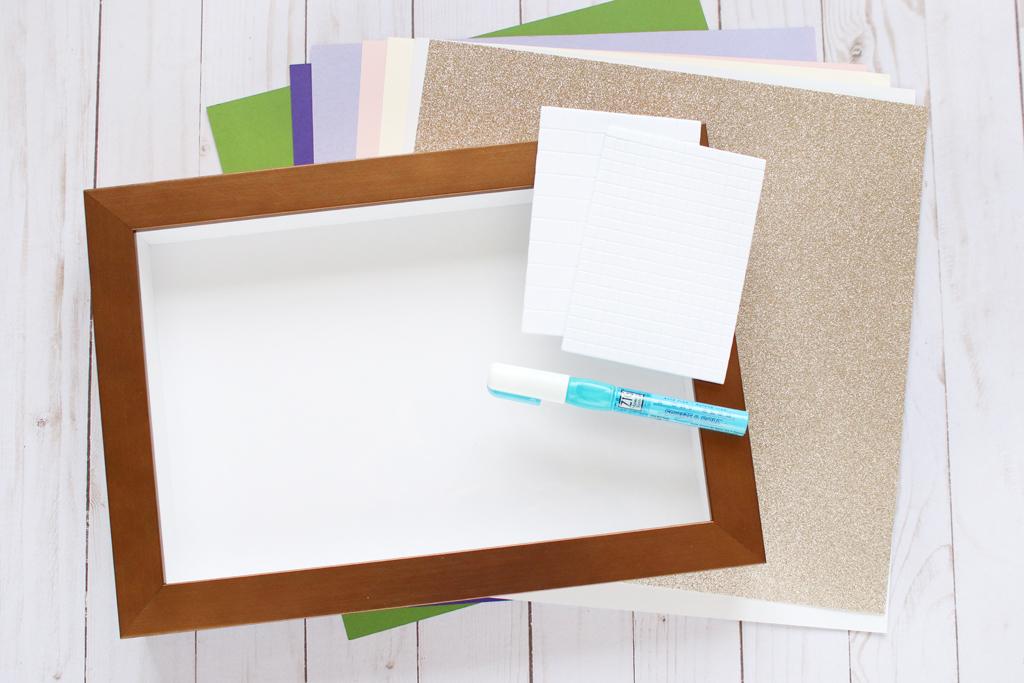 DIY Layered Paper Shadow Box Supplies