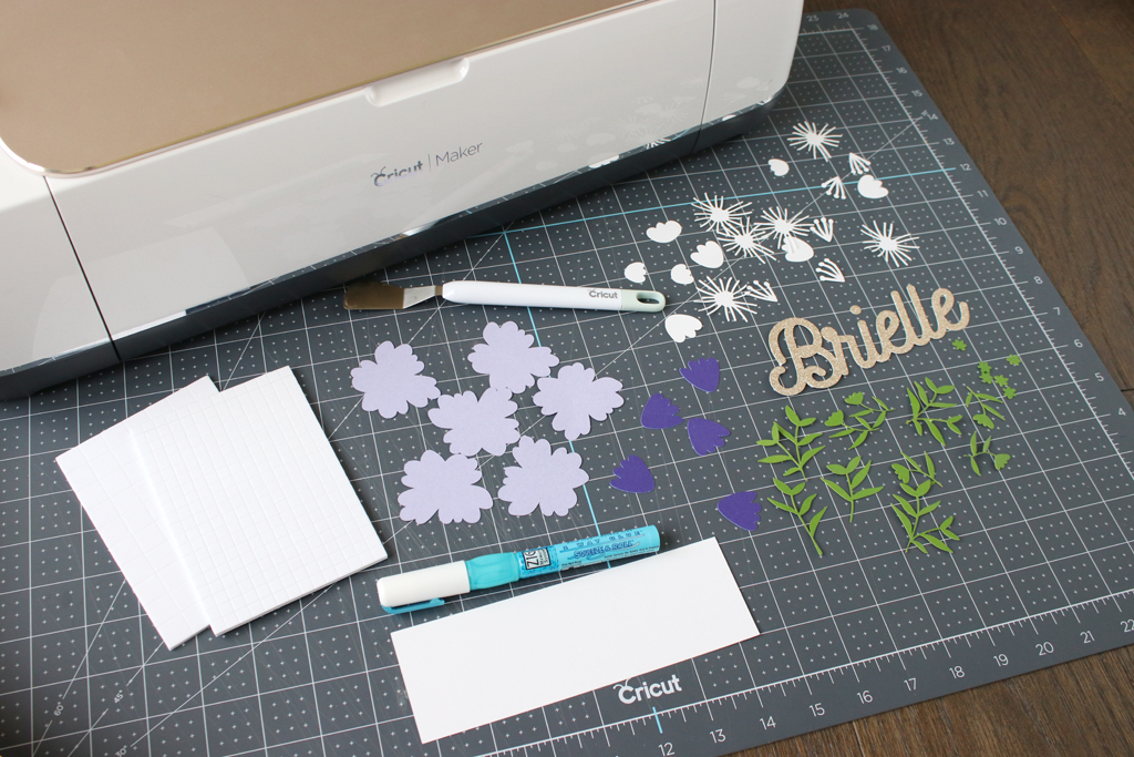 DIY Layered Paper Shadow Box Step 1