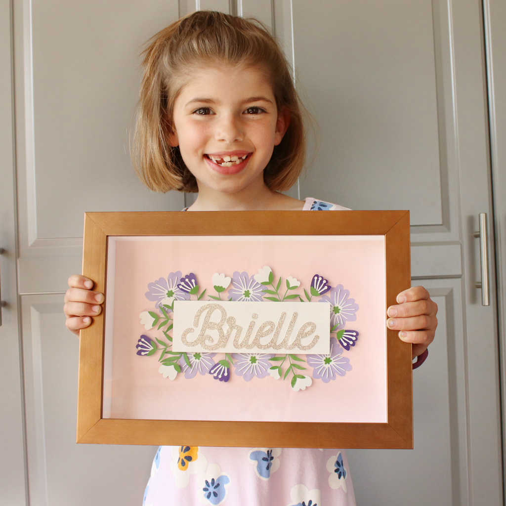 DIY Layered Paper Shadow Box With Girl