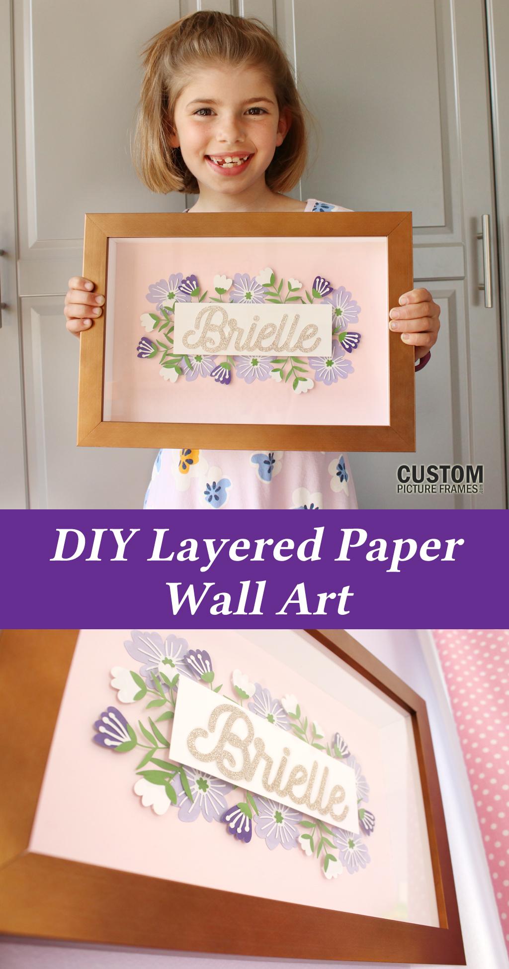 DIY Layered Paper Shadow Box Pinterest