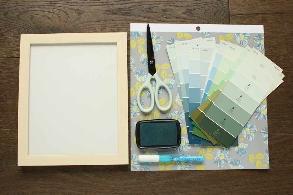 Paint Chip Collage Art Supplies