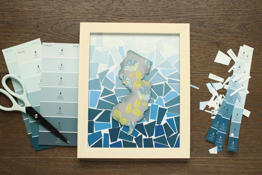 Paint Chip Collage Art Step 3