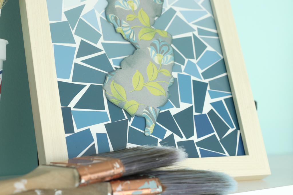 Paint Chip Collage Art Final