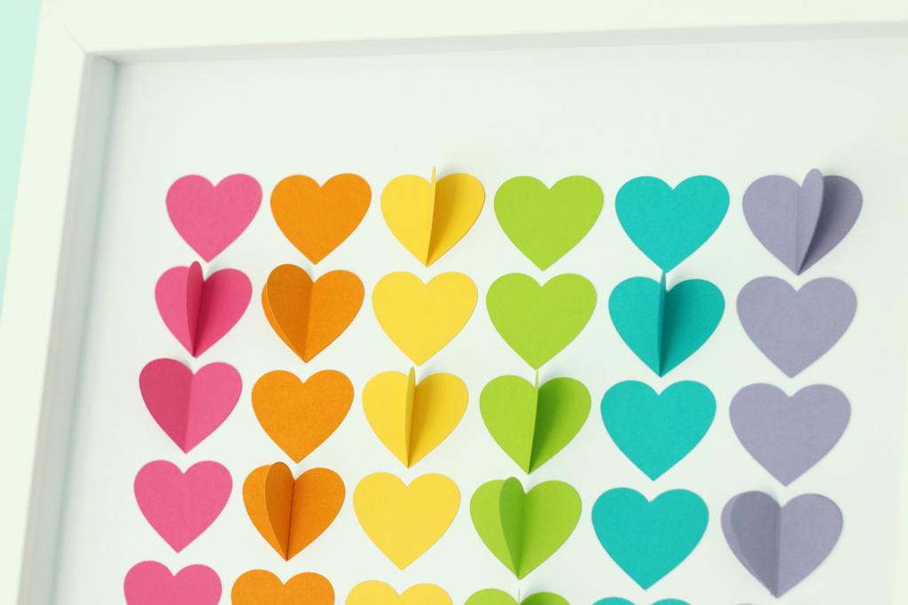 Rainbow Hearts Closeup