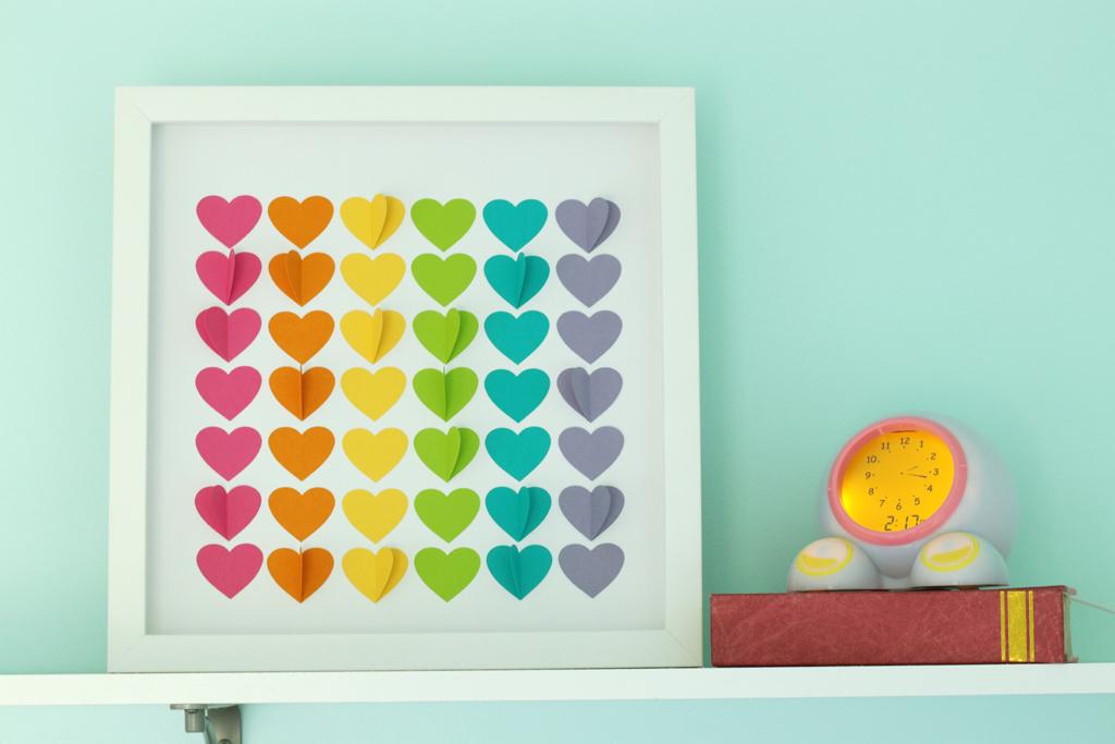 Rainbow Hearts Shadow Box Final