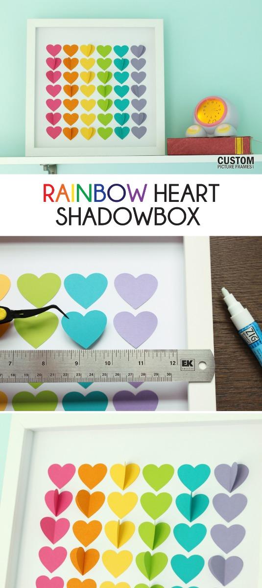 Rainbow Hearts Shadow Box Pinterest