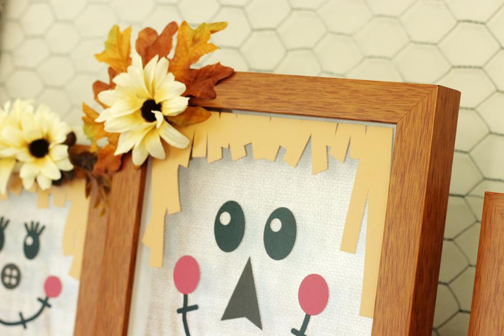 Scarecrow Shadow Boxes Closeup