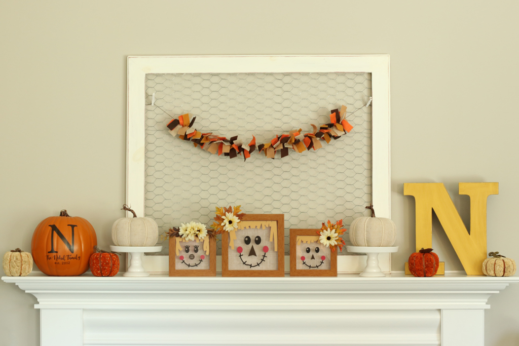 Scarecrow Shadow Boxes Full Mantle