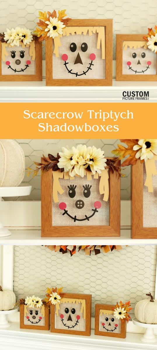 DIY Scarecrow Shadow Boxes Pinterest