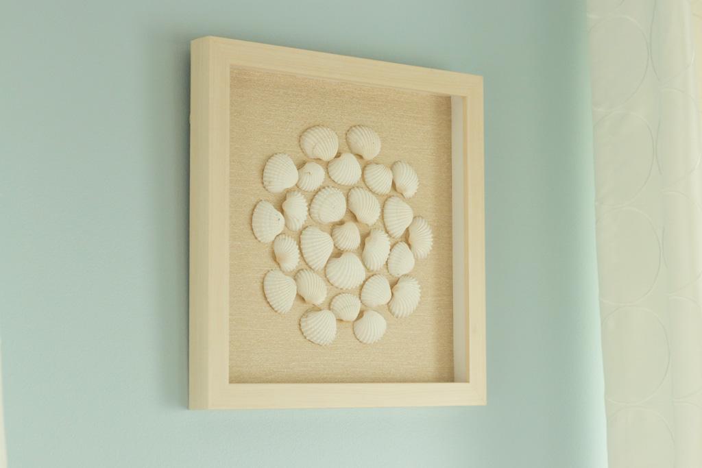Seashell Collage Shadow Box