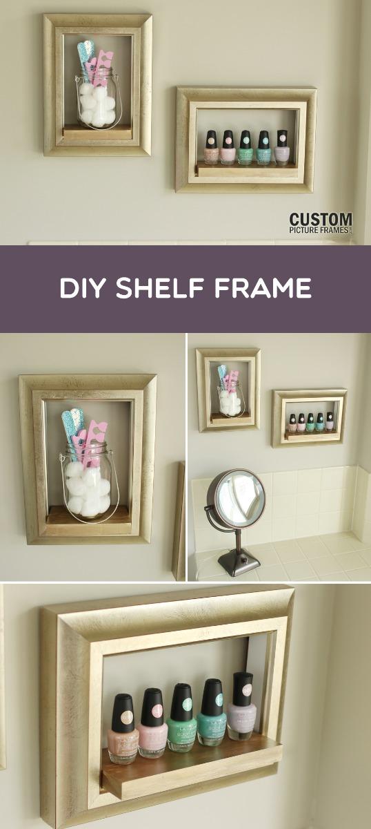 DIY Frame Shelf Pinterest