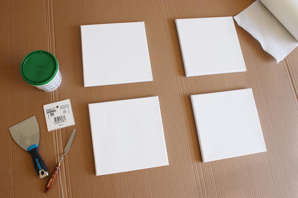 Texture Canvas Wall Art Step 1