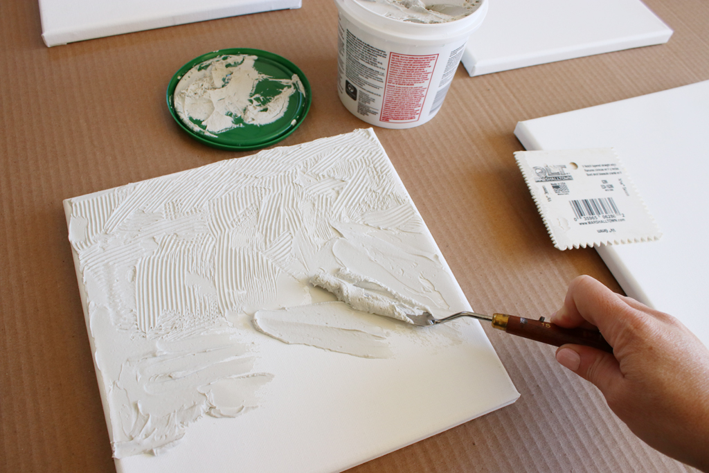 Textured Canvas Wall Art Step 2