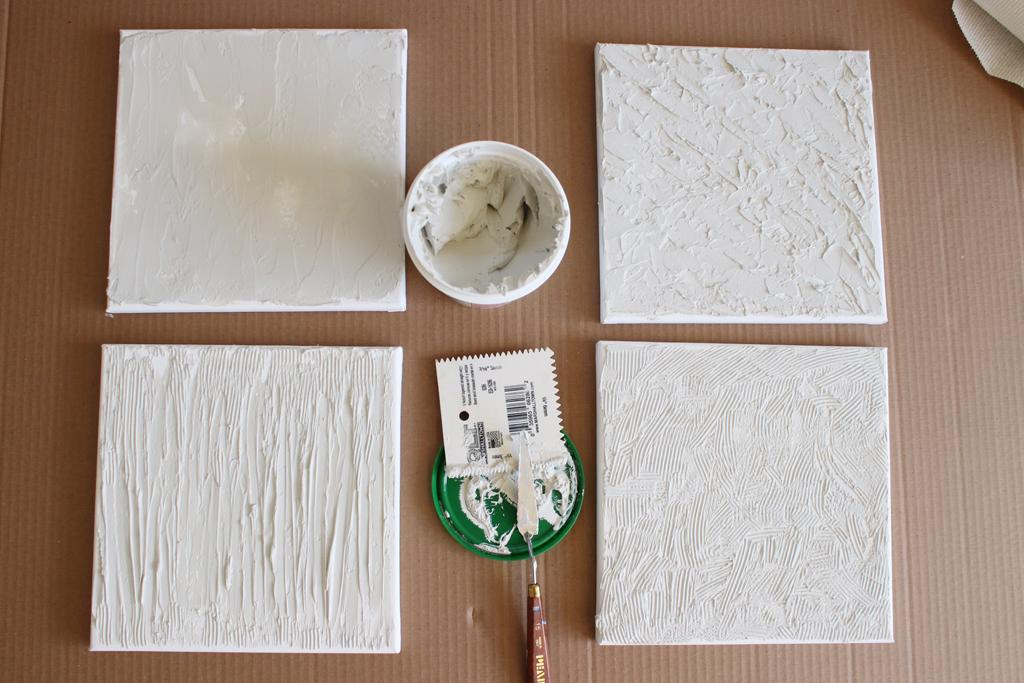 Textured Canvas Wall Art Step 4