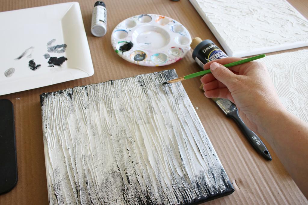 Textured Canvas Wall Art Step 5
