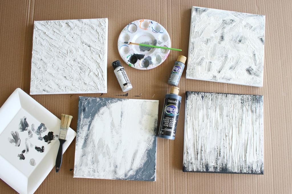 Textured Canvas Wall Art Step 6