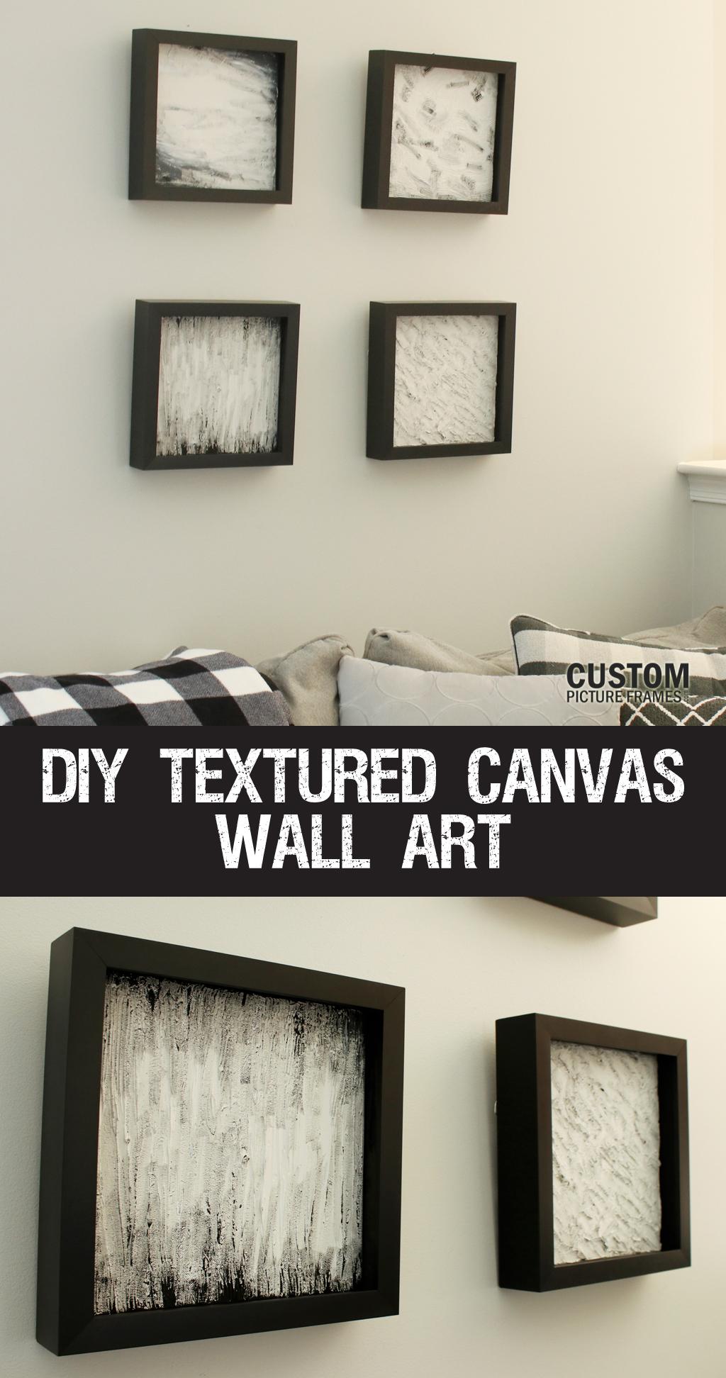 DIY Textured Canvas Wall Art Tutorial Pinterest
