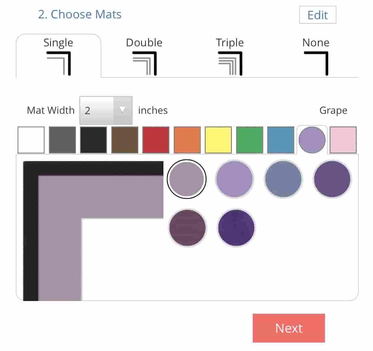 mat customization